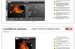 Tablet Wireframes and Mockups