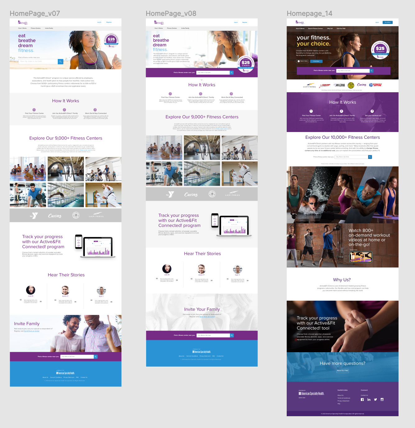 Active&Fit Direct Homepage