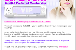 VIP Marketing Email